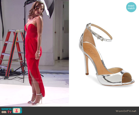 Schutz Noemie Ankle Strap Sandal worn by Lily Winters on The Young & the Restless