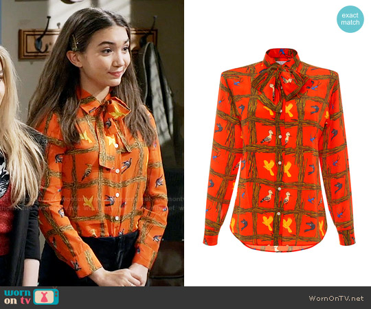 Stella Jean Incisor Shirt worn by Riley Matthews (Rowan Blanchard) on Girl Meets World