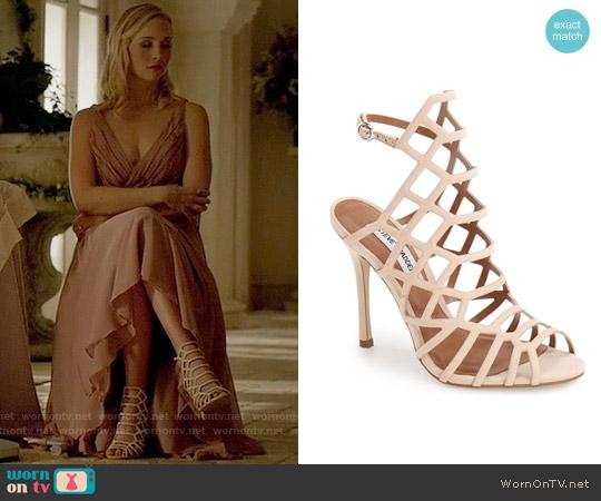 Steve Madden Slithur Sandal in Blush worn by Caroline Forbes on The Vampire Diaries