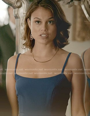 8e79004fdd68 WornOnTV  Sybil s blue gown on The Vampire Diaries