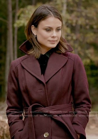 Sybil's burgundy coat on The Vampire Diaries