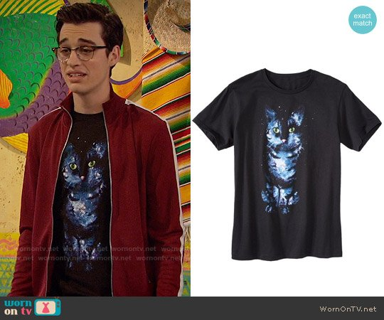Target Galaxy Cat T-shirt worn by Joey Rooney (Joey Bragg) on Liv & Maddie