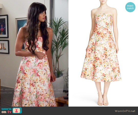 Ted Baker Senona Dress worn by Jameela Jamil on The Good Place