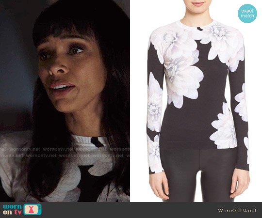 Ted Baker 'Traze' Floral Print Cotton Sweater worn by Tamara Taylor on Bones