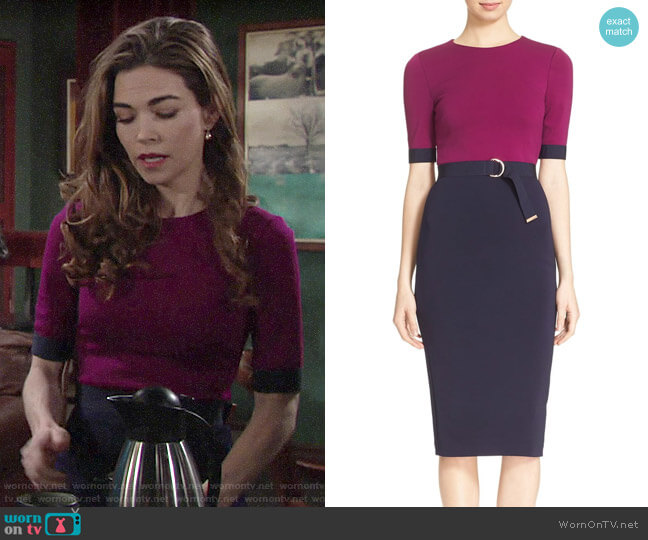 Ted Baker  'Wandee' Dress worn by Victoria Newman (Amelia Heinle) on The Young & the Restless