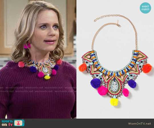 Topshop Statement Festival Pom-Pom Necklace worn by Kimmy Gibbler on Fuller House