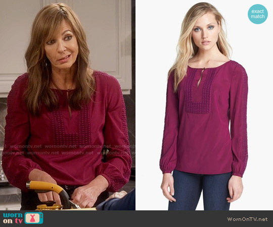 Tory Burch Lillian Top worn by Allison Janney on Mom