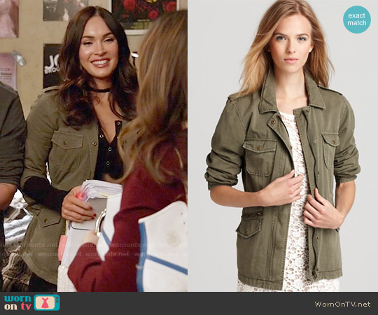 Velvet by Graham & Spencer Army Jacket worn by Megan Fox on New Girl