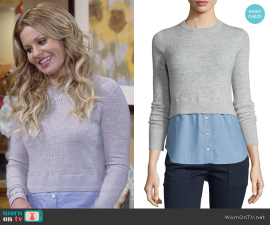 Veronica Beard Cati Sweater worn by DJ Tanner-Fuller (Candace Cameron Bure) on Fuller House