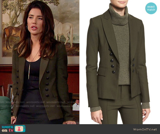 Veronica Beard Sarin Jacket worn by Jacqueline MacInnes Wood on The Bold & the Beautiful