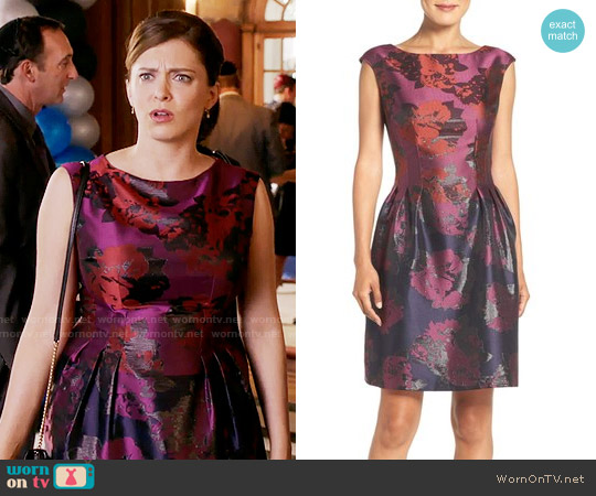 Vince Camuto Jacquard Fit & Flare Dress worn by Rachel Bloom on Crazy Ex-Girlfriend
