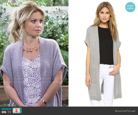 Vince Long Cardigan worn by Candace Cameron Bure on Fuller House