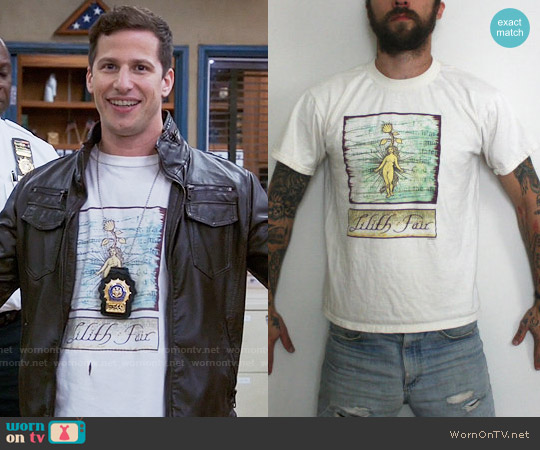 Vintage Lilith Fair T-shirt worn by Andy Samberg on Brooklyn Nine-Nine