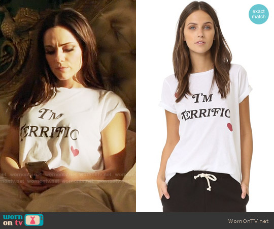 Wildfox I'm Terrific Crew Tee worn by Alexandra Park on The Royals
