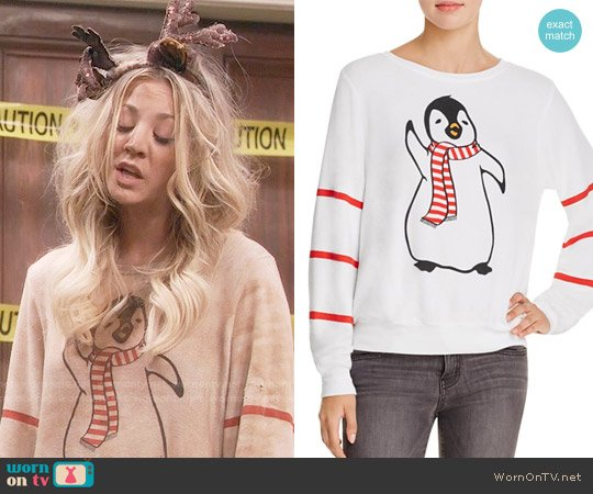 Wildfox Penguin Sweatshirt worn by Kaley Cuoco on The Big Bang Theory