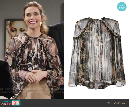 Zimmermann Lavish Braid Top worn by Amelia Heinle on The Young & the Restless