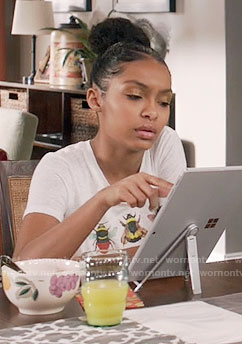 Zoey's bee graphic tee on Black-ish