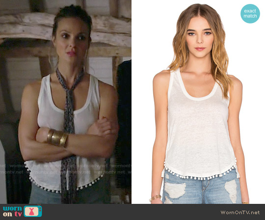 10 Crosby by Derek Lam Pom Pom Tank worn by Beau Garrett on GG2D