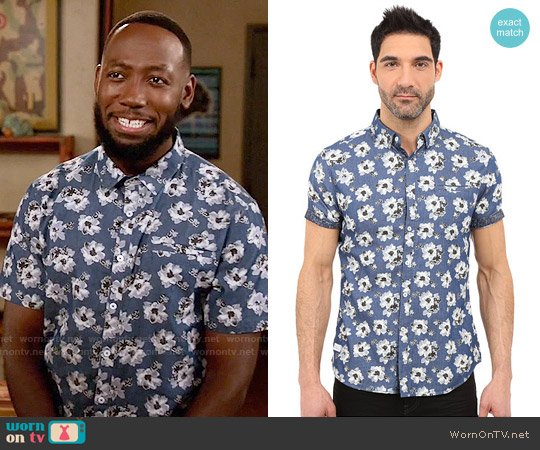 7 Diamonds Ashbury Shirt worn by Lamorne Morris on New Girl