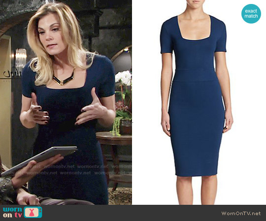 ALC Williamson Dress in Azure worn by Gina Tognoni on The Young & the Restless