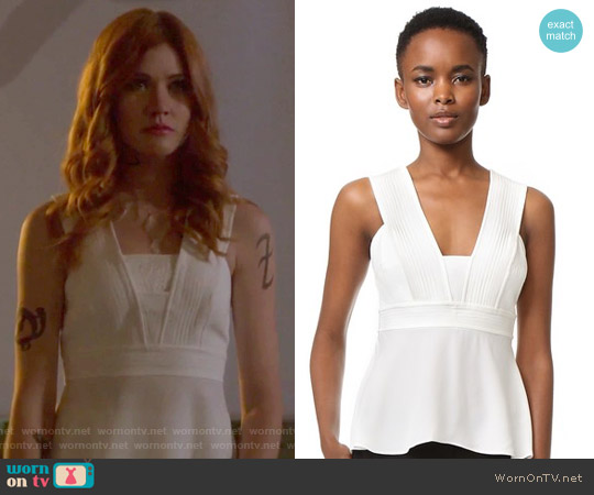 Leigh Top by A.L.C. worn by Katherine McNamara on Shadowhunters