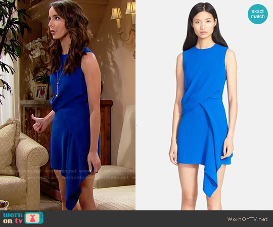 Alexander McQueen Draped Dress worn by Ivy Forrester (Ashleigh Brewer) on The Bold & the Beautiful