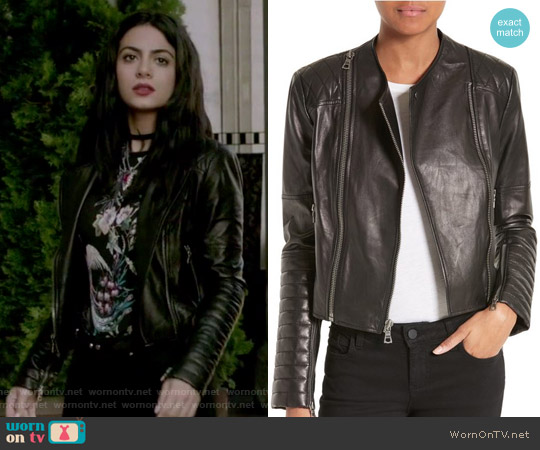 Gamma Leather Jacket by Alice + Olivia worn by Isabelle Lightwood on Shadowhunters