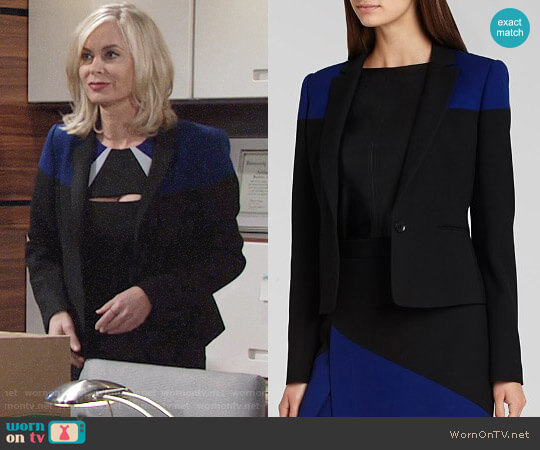 Bcbgmaxazria Oscar Blazer worn by Eileen Davidson on The Young & the Restless
