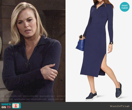 Bcbgmaxazria Sonja Sweater Dress worn by Gina Tognoni on The Young & the Restless