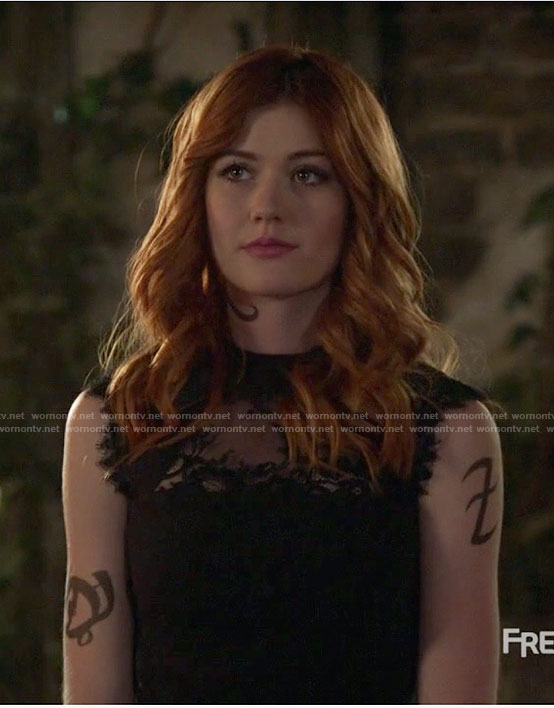 Clary's black lace dress on Shadowhunters