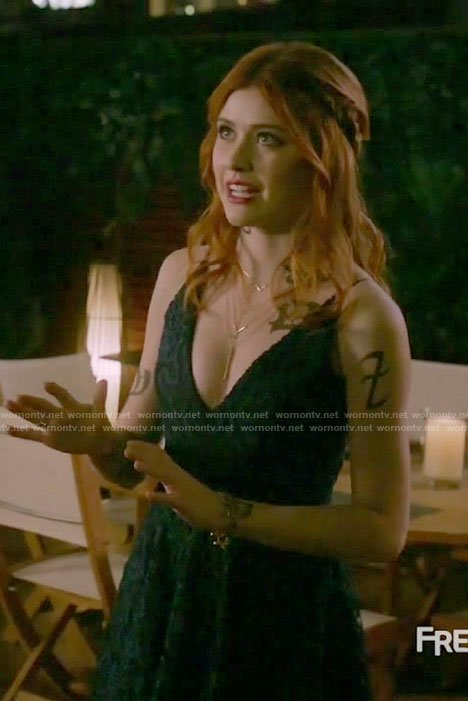 Clary's blue lace dress on Shadowhunters