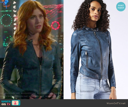 L-Lory Leather Jacket by Diesel worn by Clary Fray (Katherine McNamara) on Shadowhunters