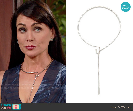 Eddie Borgo Allure Collar Necklace worn by Rena Sofer on The Bold & the Beautiful