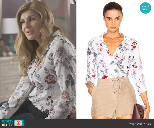 Equipment Adalyn Floral Blouse worn by Connie Britton on Nashville