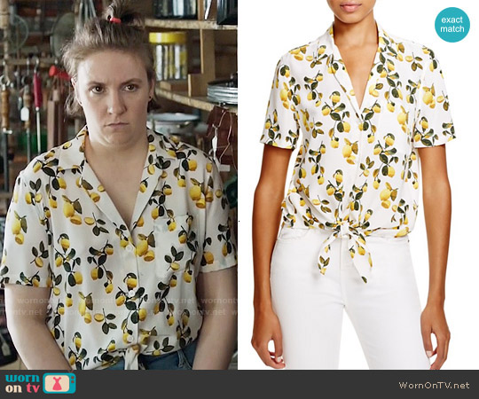 Equipment Keira Lemon Top worn by Lena Dunham on Girls