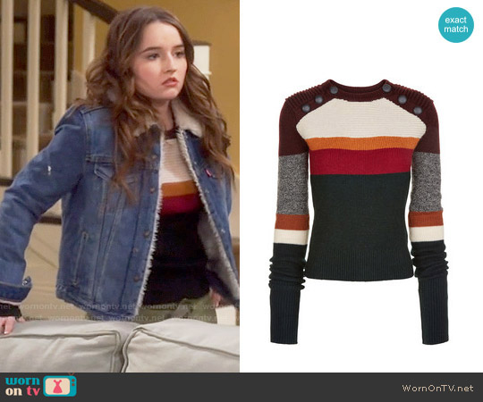 Etoile Isabel Marant Doyle Sweater worn by Eve Baxter (Kaitlyn Dever) on Last Man Standing