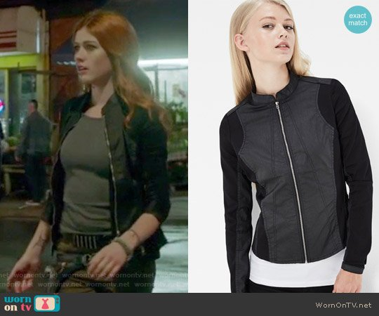 Lynn Zip Super Slim Shirt by G-Star Raw worn by Clary Fray (Katherine McNamara) on Shadowhunters