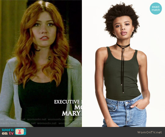 Jersey Tank Top by H&M worn by Clary Fray on Shadowhunters