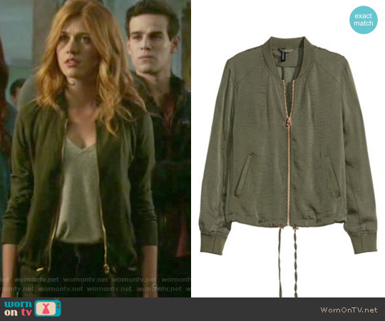 Bomber Jacket by H&M worn by Katherine McNamara on Shadowhunters