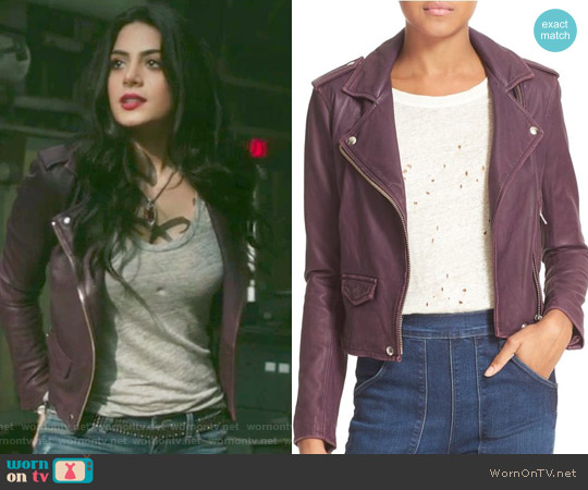 'Ashville' Leather Jacket by Iro worn by Isabelle Lightwood (Emeraude Toubia ) on Shadowhunters