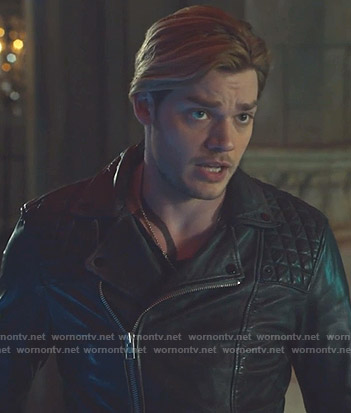 Jace's leather moto jacket on Shadowhunters