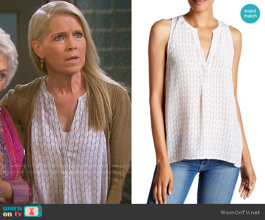 Joie Aruna Owl Print Top worn by Melissa Reeves on Days of our Lives