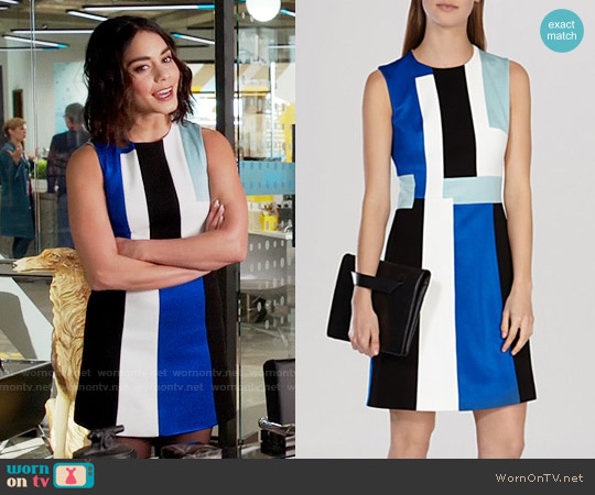 Karen Millen Modernist Color Block Dress worn by Vanessa Hudgens on Powerless