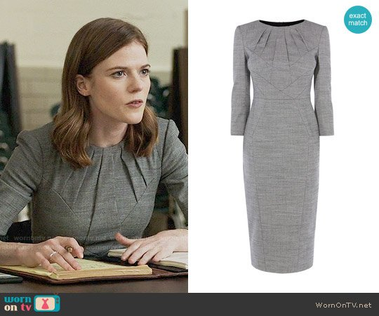 Karen Millen Tailored Dress worn by Maia Rindell (Rose Leslie) on The Good Fight