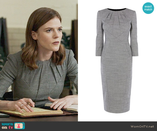 Karen Millen Tailored Dress worn by Rose Leslie on The Good Fight