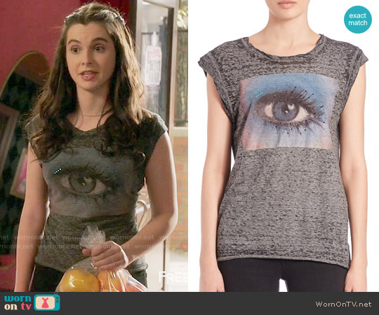 Pam & Gela Frankie Eye Muslce Tee worn by Vanessa Marano on Switched at Birth