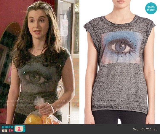 Pam & Gela Frankie Eye Muslce Tee worn by Bay Kennish (Vanessa Marano) on Switched at Birth