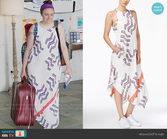 RACHEL Rachel Roy Printed Midi Dress worn by Lena Dunham on Girls