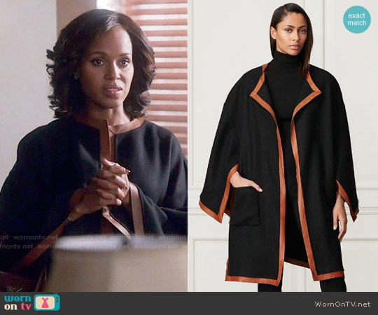 Ralph Lauren Lorraine Wool-Cashmere Cape worn by Kerry Washington on Scandal