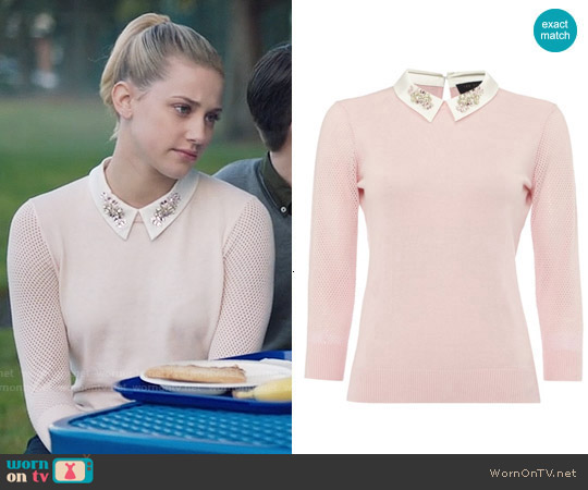 Ted Baker Helane Sweater worn by Lili Reinhart on Riverdale